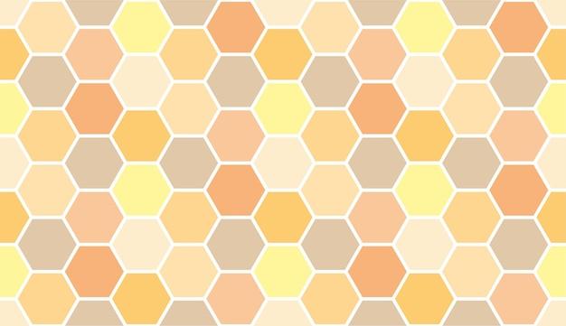 Abeille nid d'abeille texture de miel art modèle sans couture