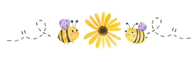 Abeilles mignonnes pour la journée internationale des abeilles le 20 mai