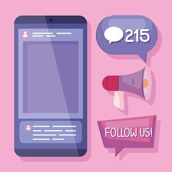 Abonnés icônes de médias sociaux