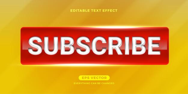 Abonnez-vous à l'effet de texte