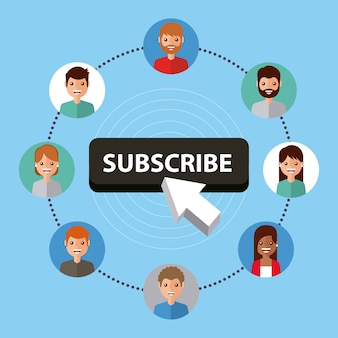 Abonnez-vous les gens connexion internet technologie