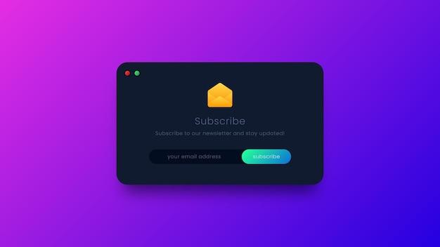 Abonnez-vous illustration de conception d'interface utilisateur