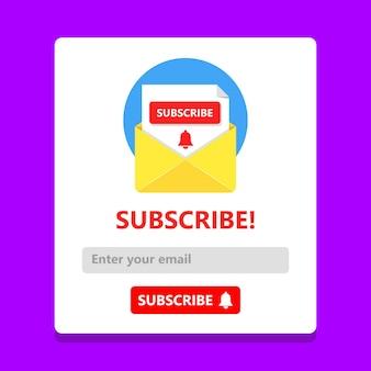 Abonnez-vous maintenant à notre concept de newsletter