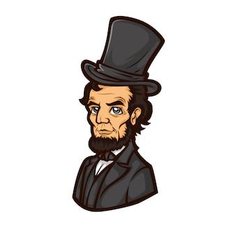 Abraham lincoln vecteur demi-corps, président des états-unis d'amérique