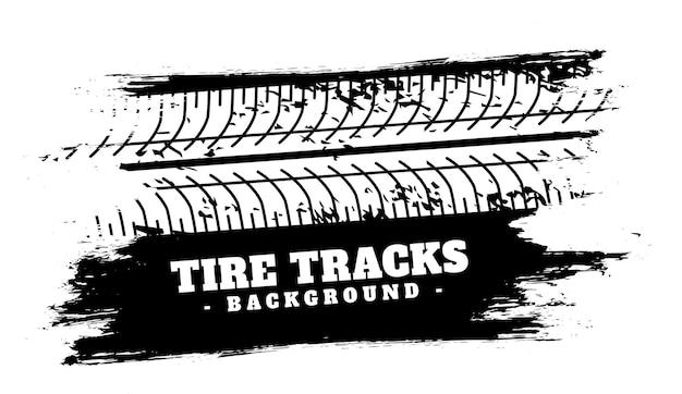 Absorber l'arrière-plan d'impression de piste de pneu de véhicule