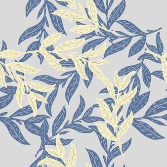 Absorber le modèle sans couture avec des branches de feuilles