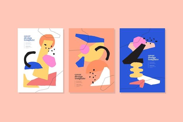 Abstarct couvre la collection avec différentes formes