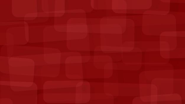 Abstarct fond de rectangles translucides avec des coins arrondis en couleurs rouges
