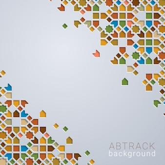 Abstrac fond coloré marocain géométrique