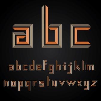 Abstract alphabet orange