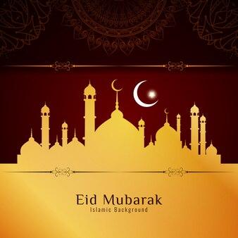 Abstract artisitc eid mubarak background design