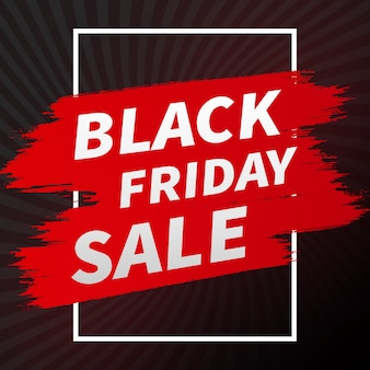 Abstract black friday sale banner