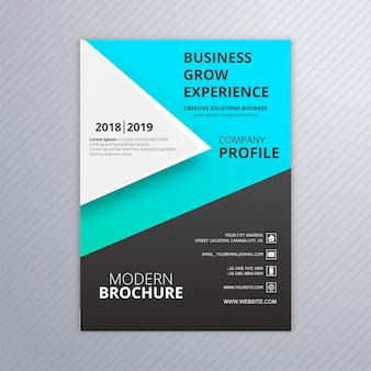 Abstract business brochure modèle design coloré vecteur