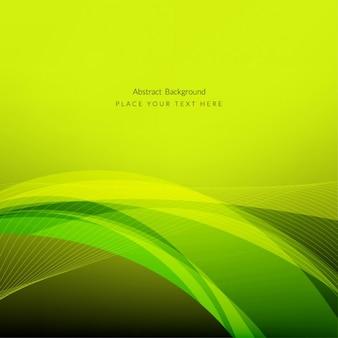 Abstract design élégant de fond de vague verte