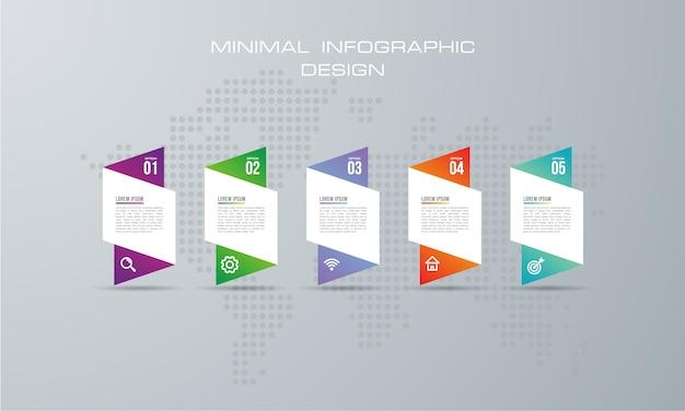 Abstract illustration numérique 3d infographique. utilisé pour la disposition du flux de travail, le diagramme, les options de numéro