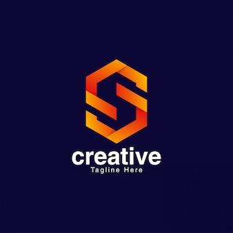 Abstract letterlogo pour les médias et le divertissement
