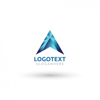 Abstract logo gradient de la lettre a