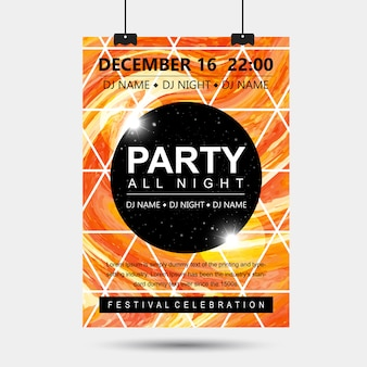 Abstract marble party affiches designs