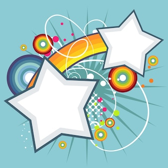 Abstract star funky vector background