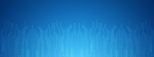 Abstract technology background bleu circuit imprimé numérique microchippower lineblank space