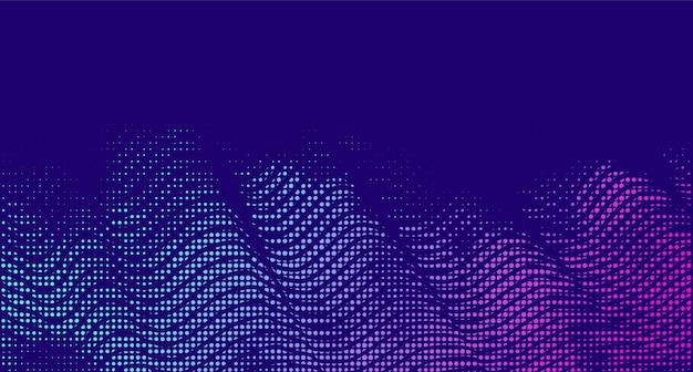 Abstract vector background demi-teinte dégradé dégradé texture vibrante effet fumée rétro design