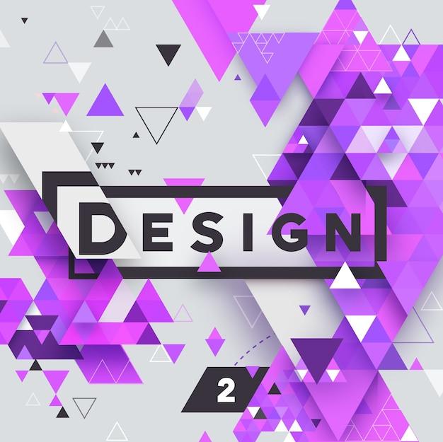 Abstract vector fond clair texturé triangulaire géométrique pour, entreprise, impression, web, interface utilisateur et autres