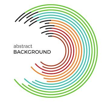 Abstract vector illustration représentant des cercles colorés sur fond blanc. arrière-plan infographique avec place pour votre texte.