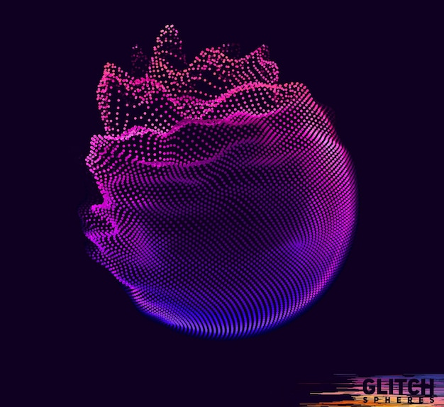 Abstract vector mesh coloré sur fond sombre