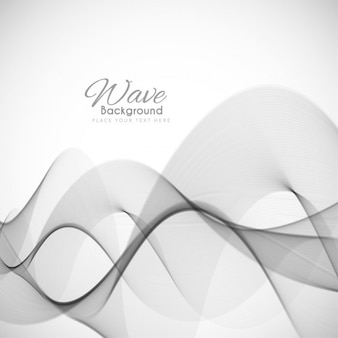 Abstract wave fond gris moderne