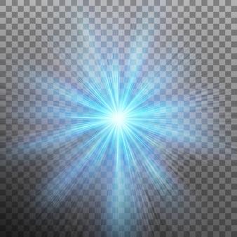 Abstraction de l'énergie bleue avec un arrière-plan éclaté. fond transparent uniquement dans