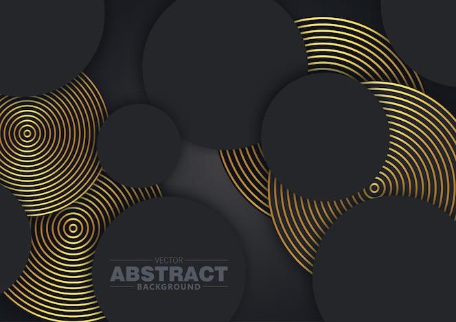 Abstrait 3d cercle noir