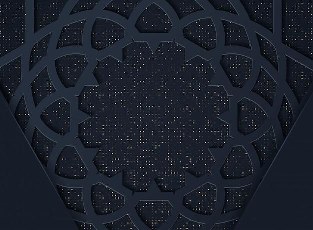 Abstrait 3d avec une combinaison de points lumineux dans un style 3d