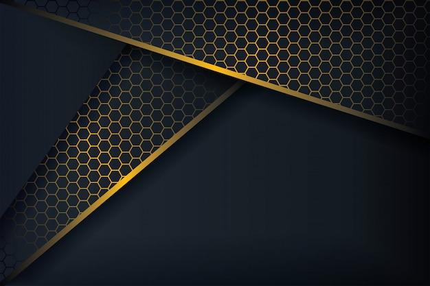 Abstrait 3d avec une combinaison de polygones lumineux dans un style 3d.