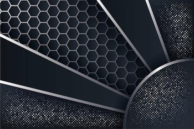 Abstrait 3d avec une combinaison de polygones lumineux.