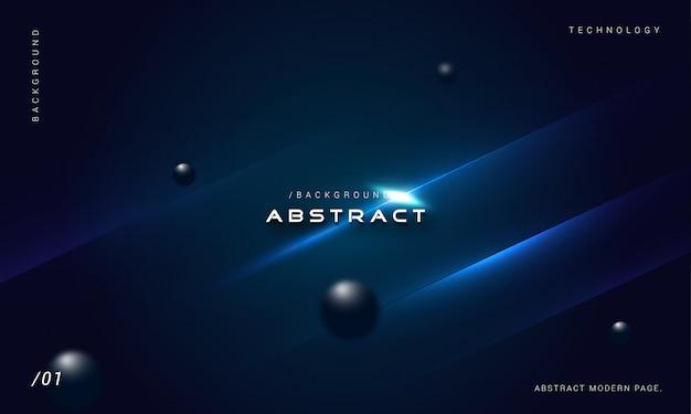 Abstrait 3d élégant fond bleu géométrique