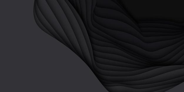 Abstrait 3d avec forme de papier découpé