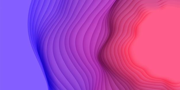 Abstrait 3d avec des formes découpées en papier