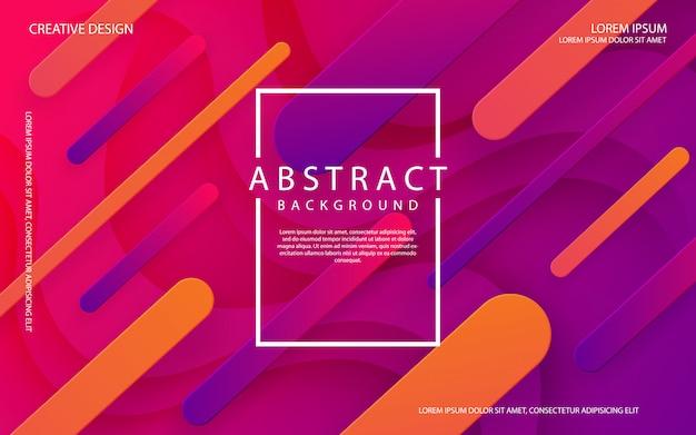 Abstrait 3d avec des formes de gradient dynamique qui coule