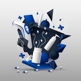 Abstrait 3d illustration médicale