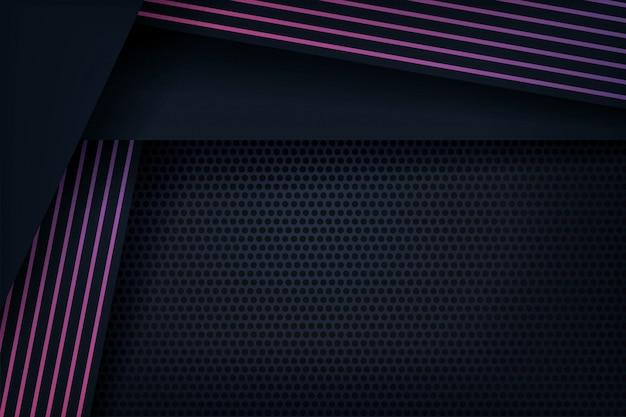 Abstrait 3d avec des lignes violettes
