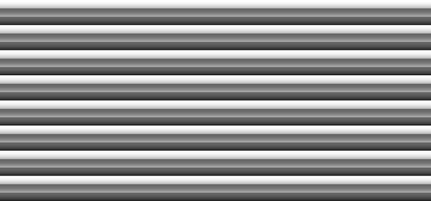 Abstrait 3d monochrome noir et gris motif de lignes de rayures horizontales audacieuses sur fond blanc et texture. illustration vectorielle