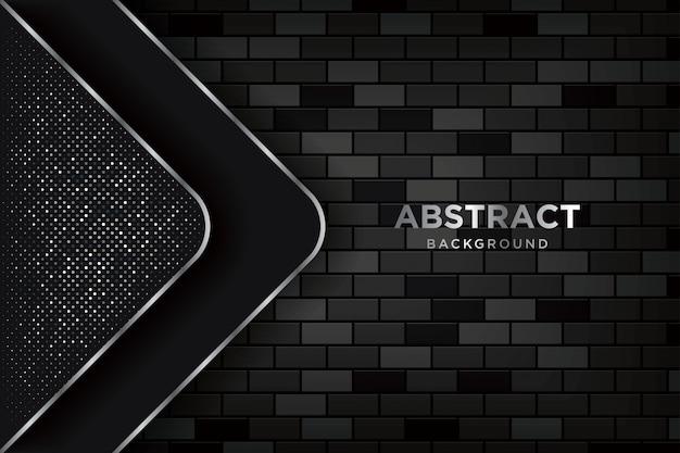 Abstrait 3d avec des murs de briques sombres réalistes