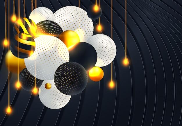 Abstrait 3d paper graphics
