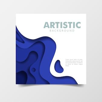 Abstrait 3d papier bleu coupe style art