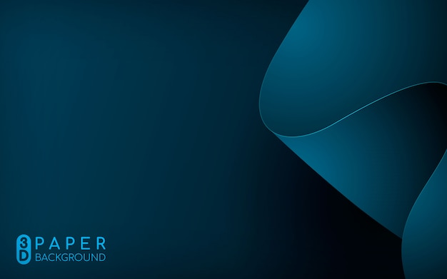 Abstrait 3d papier bleu