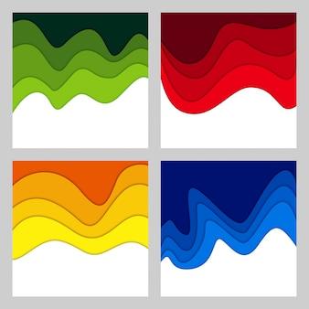 Abstrait 3d et papier découpé formes
