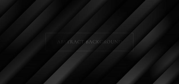 Abstrait 3d rayures diagonales noires