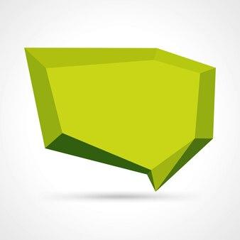 Abstrait 3d vecteur de discours géométrique bulle