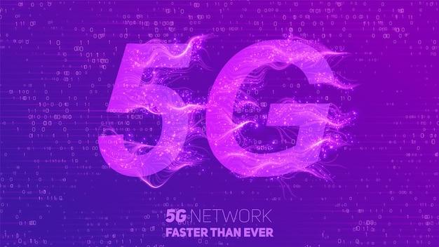 Abstrait 5g nouveau fond de connexion internet sans fil