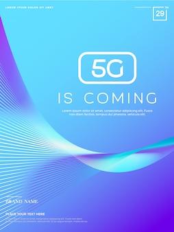 Abstrait 5g, technologie de réseau 5g